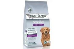 Сухой диетический корм для собак преклонного возраста, Arden Grange Light/Senior Sensitive, с деликатным желудком и/или чувствительной кожей, с белой рыбой и картофелем