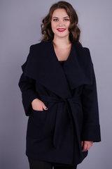 Софи. Женское пальто плюс сайз. Синий.