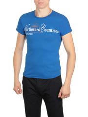 18666-7 футболка мужская, синяя