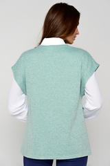 Классический жилет со спущенным плечом. Функциональный карман. Отличный офисный вариант. (Длины: 46-61см; 48-62см; 50-62см; 52-63см)