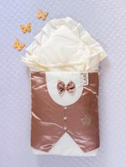 Набор на выписку из роддома Джентельмен (шоколад/кремовый)