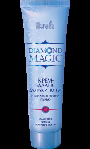 Floralis Diamond Magic Крем-баланс для рук и ногтей с бриллиантовой пылью 100г