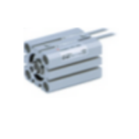 CQSB16-10T  Компактный цилиндр, М5х0.8, одностор. д ...