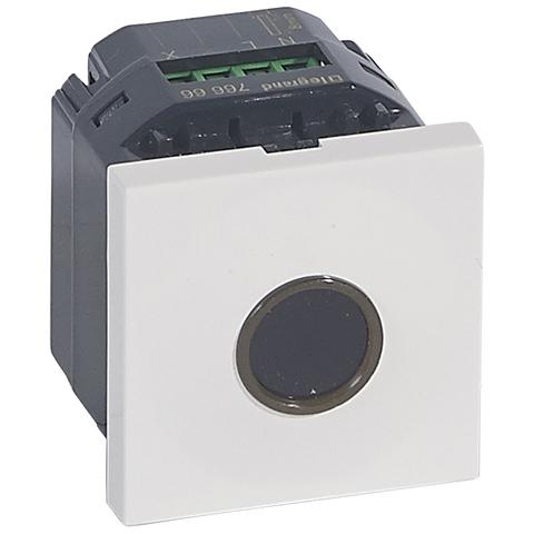 Бесконтактный выключатель 2 модуля. - 10 AX. Цвет Белый. Legrand Mosaic (Легранд Мозаик). 076666