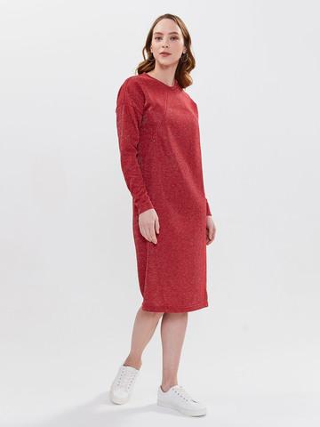 Платье Ника с секретом для кормления Красное с люрексом