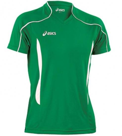 Мужская волейбольная футболка Asics T-shirt Volo (T604Z1 8001) зеленая