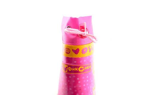 Резиновые сапоги для девочек на текстильной подкладке Фиксики, цвет фуксия. Изображение 9 из 10.