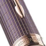 Parker Sonnet F536 Contort Purple Cisele перо F 18K (1930055)Копировать товар