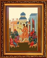 Отрок Иисус в Иерусалимском храме. Икона на холсте.