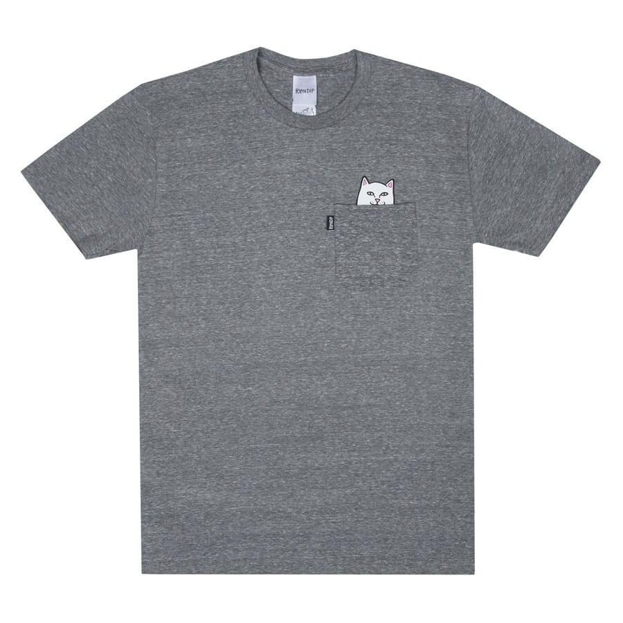 Футболка RIPNDIP Lord Nermal Pocket Tee (Heather Grey)