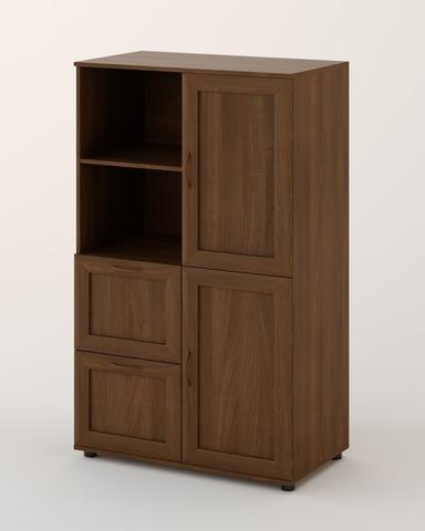 Шкаф ЛАНА-01-б рамочный орех темный