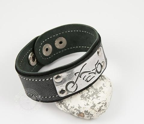 BL453-6 Мужской браслет с байком (гравировка) ручной работы
