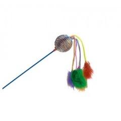 YUGI дразнилка для кошек звенящий шар с кисточками 48 см