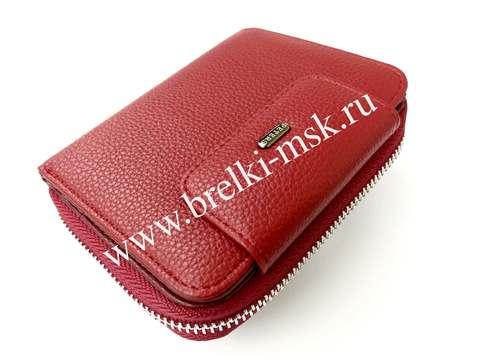 Женский кошелек из натуральной кожи. Цвет Красный