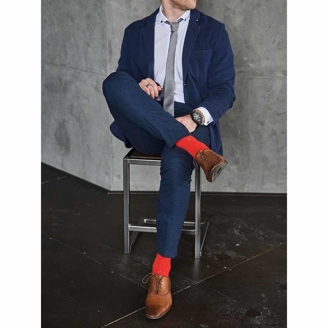 Мужские красные носки Marrey Art of color