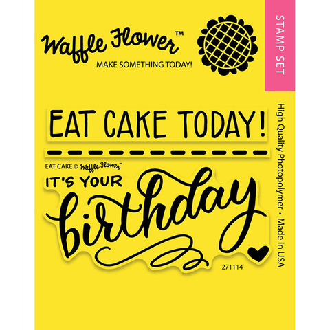 Набор штампов Waffle Flower Crafts Clear Stamps 7,5х10см  -Eat Cake