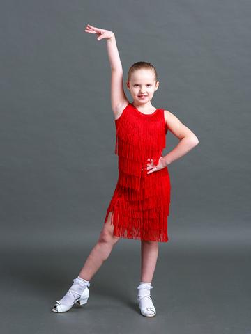 Детский топ для танцев с бахромой арт. 417