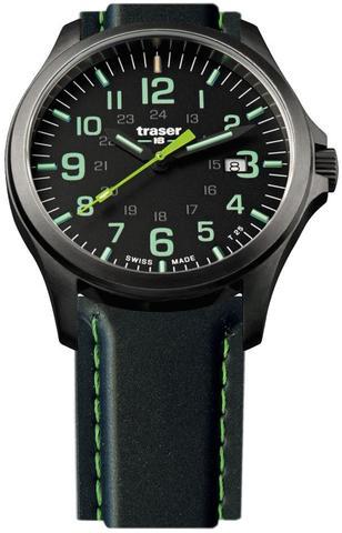 Купить Швейцарские тактические часы Traser P67 OFFICER PRO  GUNMETAL  Black/Lime 107864 по доступной цене