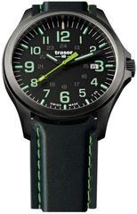 Швейцарские тактические часы Traser P67 OFFICER PRO  GUNMETAL  Black/Lime 107864