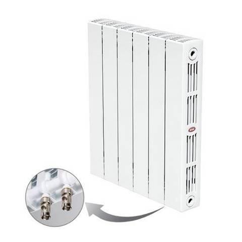 Радиатор биметаллический секционный Rifar SUPReMO Ventil 350 - 8 секций (подключение нижнее правое)