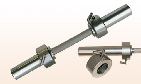 Гантельный гриф Barbell d 50 мм металл/ручка з/стопорный L710 мм 4 пары.