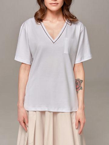 Женская белая футболка Eleventy - фото 3