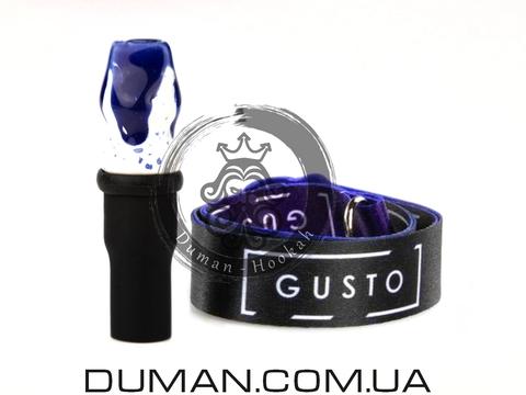 Персональный мундштук Gusto Bowls (Густо Болс) для кальяна |Blue-White Gusto