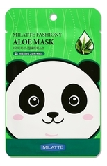 Маска тканевая с Алоэ, MILATTE, Fashiony Aloe Mask Sheet, 21г