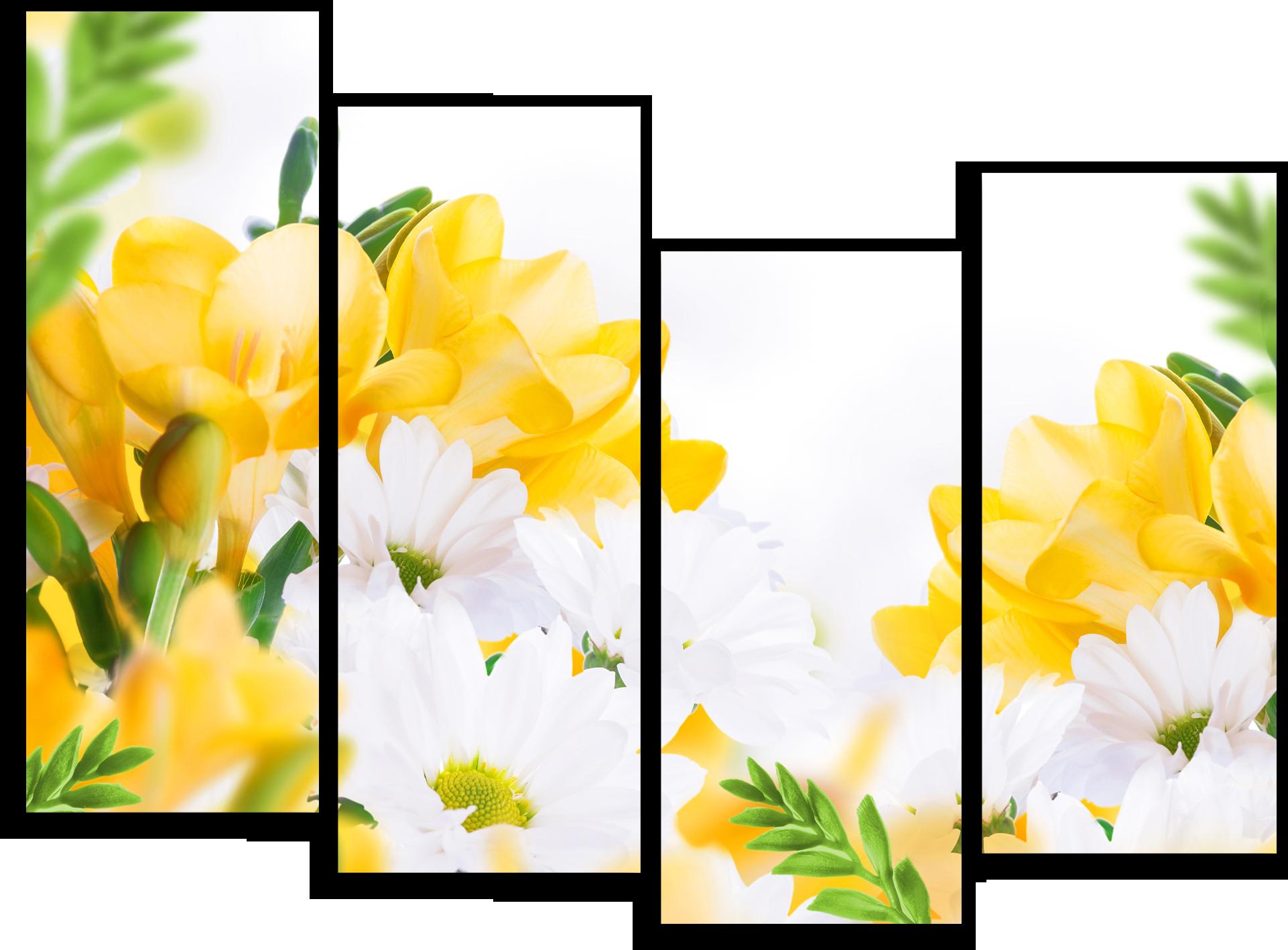 """Цветы Модульная картина """"Белые ромашки"""" М715.png"""
