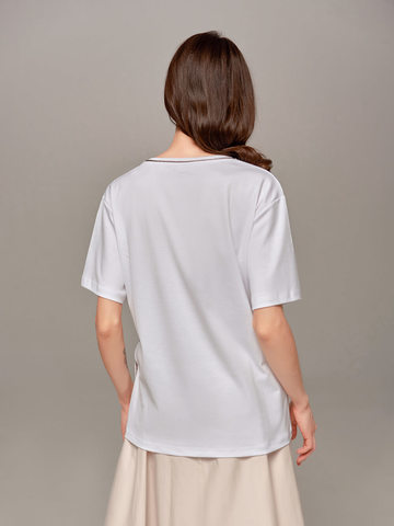 Женская белая футболка Eleventy - фото 2