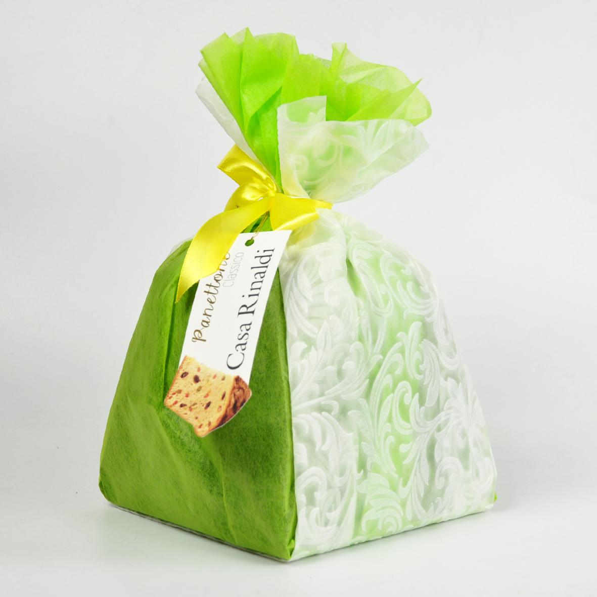 Кулич итальянский Casa Rinaldi 750 г (зелёный) упакован вручную