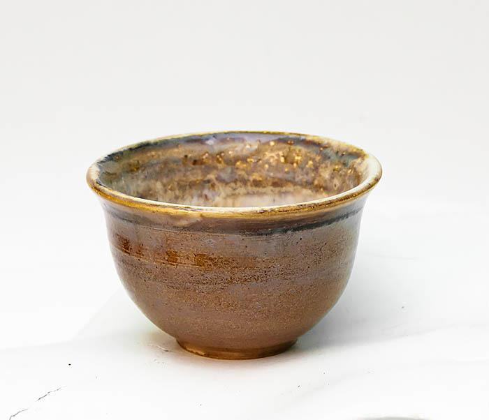 CUP103-2 Пиала керамическая в коричневой глазури