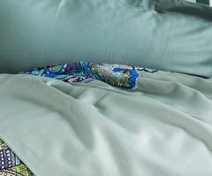 Постельное белье 1.5 спальное Mirabello Mariposa зеленое