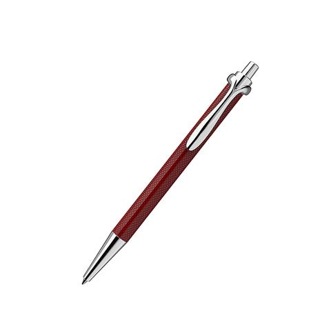 Ручка роллер с нажимным механизмом красная