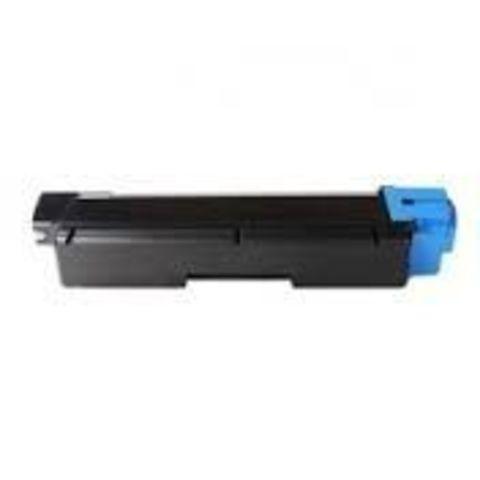 Совместимый картридж Kyocera TK-580C голубой для принтеров Kyocera FS-C5150DN. Ресурс 2800 стр.