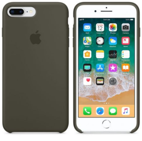iPhone 7Plus/8Plus Silicone Case Dark Olive