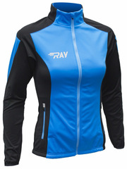 Лыжная разминочная куртка Ray Pro Race WS Light Blue-Black женская