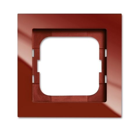 Рамка на 1 пост. Цвет Foyer красный. ABB(АББ). Axcent(Акcент). 1754-0-4476