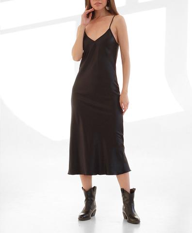 Платье-комбинация Черное
