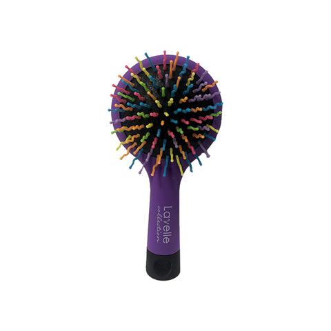 Лавелль Щетка д/волос цветная круглая с зеркалом (малая)