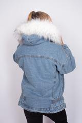 зимняя джинсовая куртка с мехом магазин