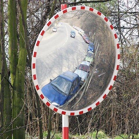 Уличное сферическое зеркало DL 630 мм со световозвращателями