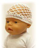 Шапка - сетка - На кукле. Одежда для кукол, пупсов и мягких игрушек.