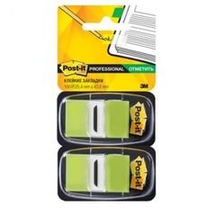 Клейкие закладки пласт. 1цв.по 100л. 25мм свет.зелен. Post-it ?680-BG2