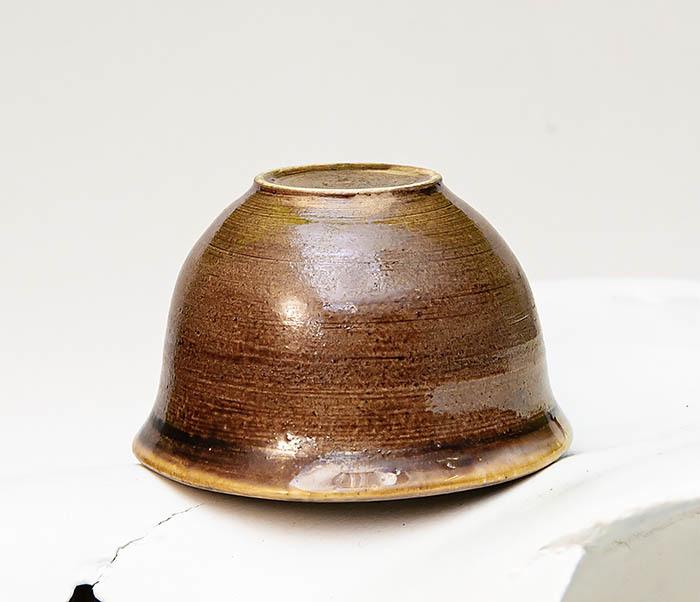 CUP103-2 Пиала керамическая в коричневой глазури фото 04