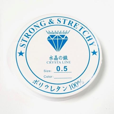 Спандекс прозрачный 0.5 мм - силиконовая нить