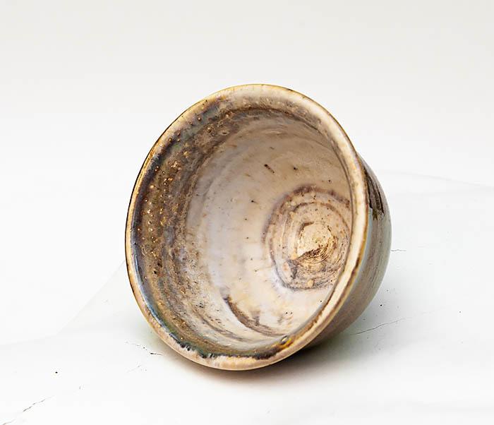 CUP103-2 Пиала керамическая в коричневой глазури фото 05