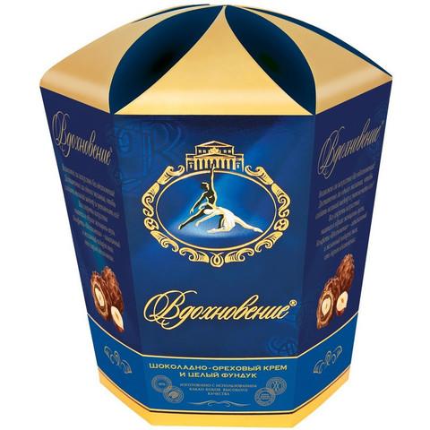 Набор конфет Вдохновение с шоколадно-ореховым кремом и фундуком,150гр