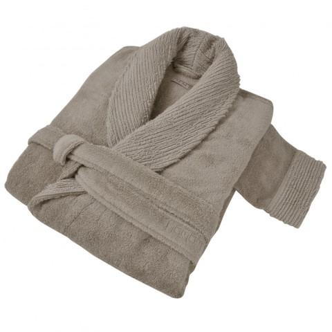 Элитный халат махровый Galata Organic Contrast дымчатый от Hamam