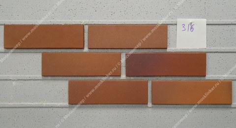 Stroeher, фасадная клинкерная плитка, цвет 316 patrizienrot ofenbunt, серия Keravette, unglasiert, неглазурованная, гладкая, 240x71x11